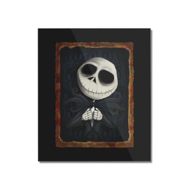 i am the pumpkin king! Home Mounted Acrylic Print by the twisted world of godriguezart