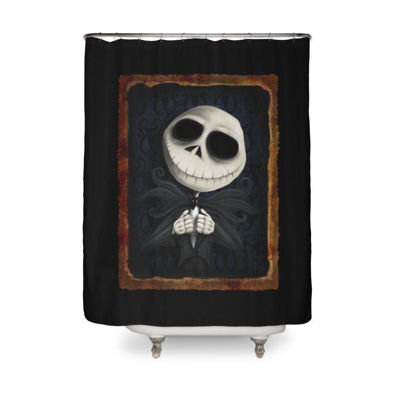 i am the pumpkin king! Home Shower Curtain by the twisted world of godriguezart