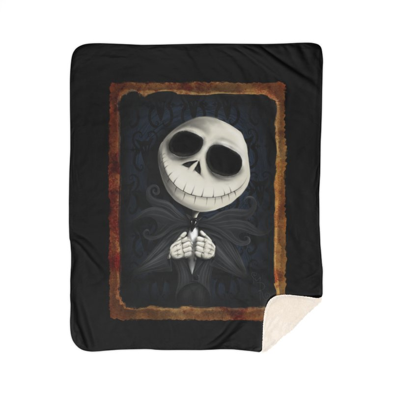 i am the pumpkin king! Home Sherpa Blanket Blanket by the twisted world of godriguezart