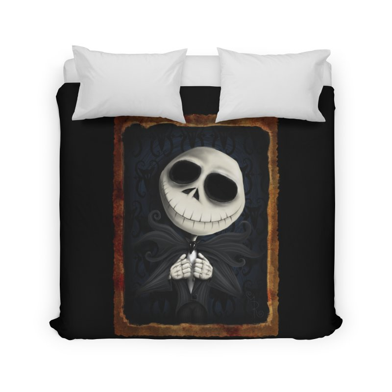 i am the pumpkin king! Home Duvet by the twisted world of godriguezart