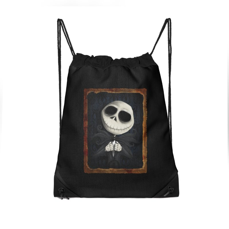 i am the pumpkin king! Accessories Drawstring Bag Bag by the twisted world of godriguezart