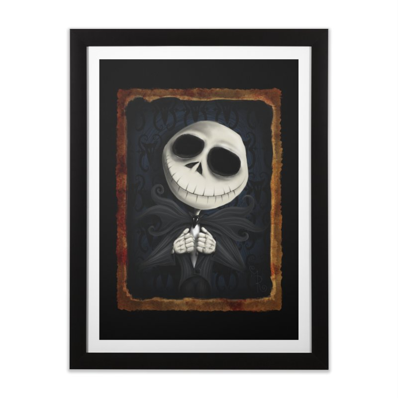 i am the pumpkin king! Home Framed Fine Art Print by the twisted world of godriguezart