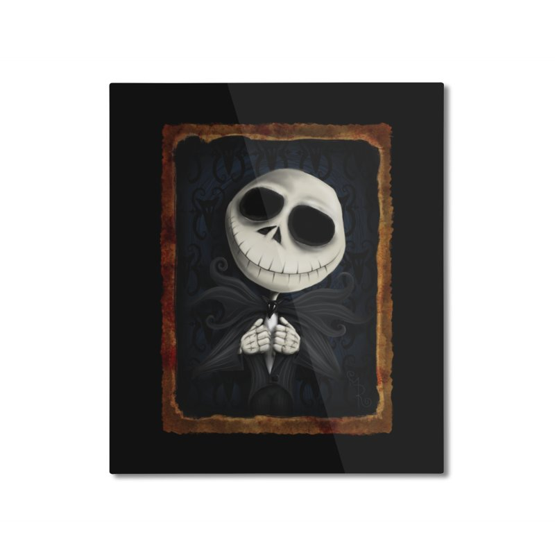 i am the pumpkin king! Home Mounted Aluminum Print by the twisted world of godriguezart