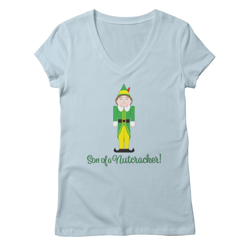 son of a nutcracker! Women's Regular V-Neck by the twisted world of godriguezart