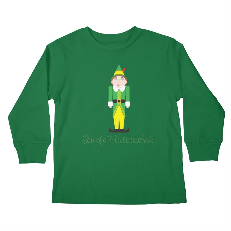 son of a nutcracker! Kids Longsleeve T-Shirt by the twisted world of godriguezart