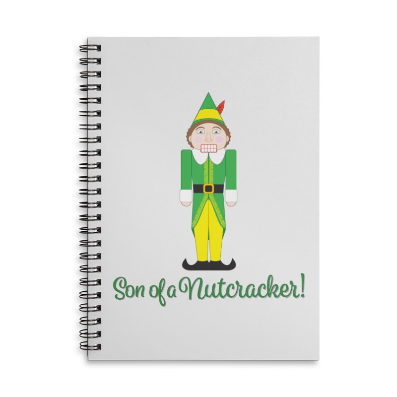 son of a nutcracker! Accessories Lined Spiral Notebook by the twisted world of godriguezart