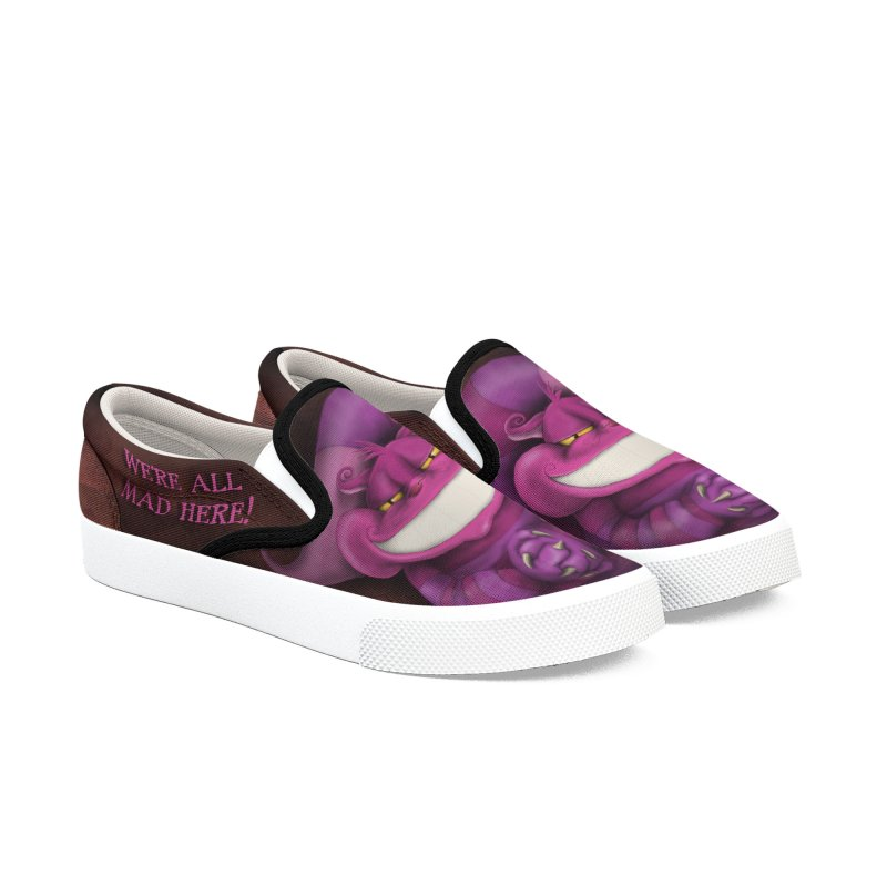 smile like you mean it Women's Slip-On Shoes by the twisted world of godriguezart