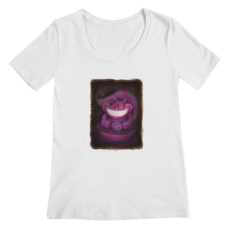 smile like you mean it Women's Regular Scoop Neck by the twisted world of godriguezart