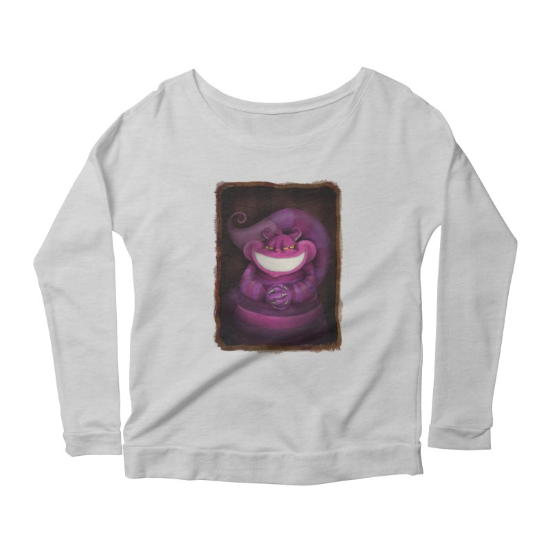 smile like you mean it Women's Scoop Neck Longsleeve T-Shirt by the twisted world of godriguezart