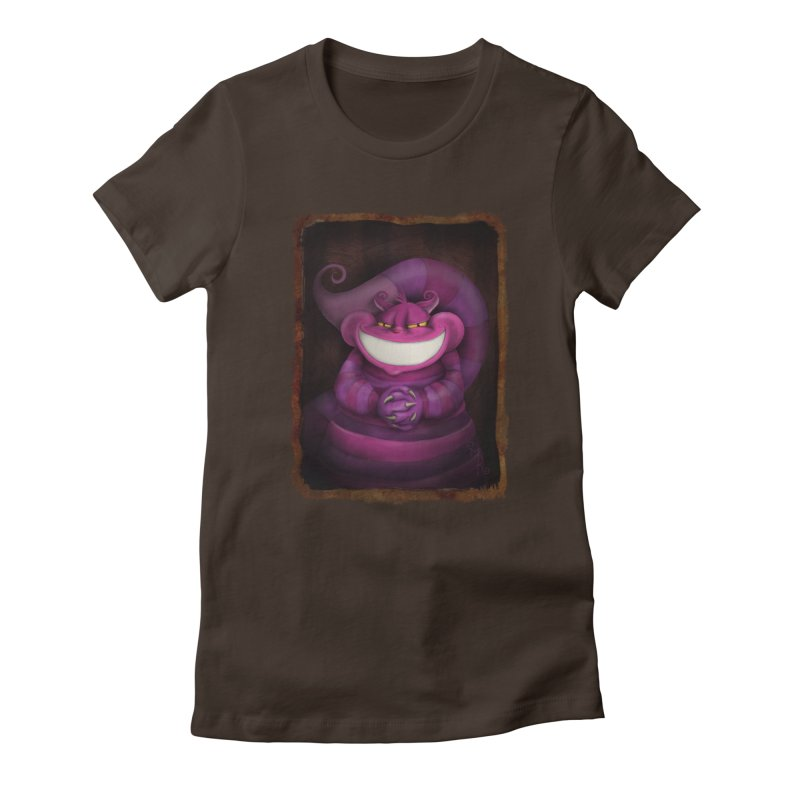smile like you mean it Women's Fitted T-Shirt by the twisted world of godriguezart