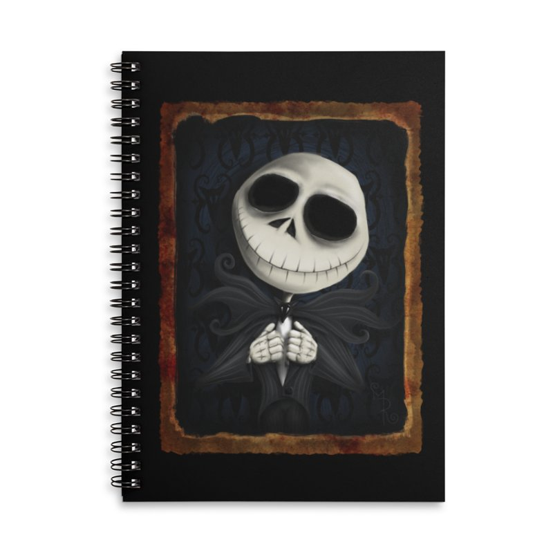 i am the pumpkin king! Accessories Lined Spiral Notebook by the twisted world of godriguezart