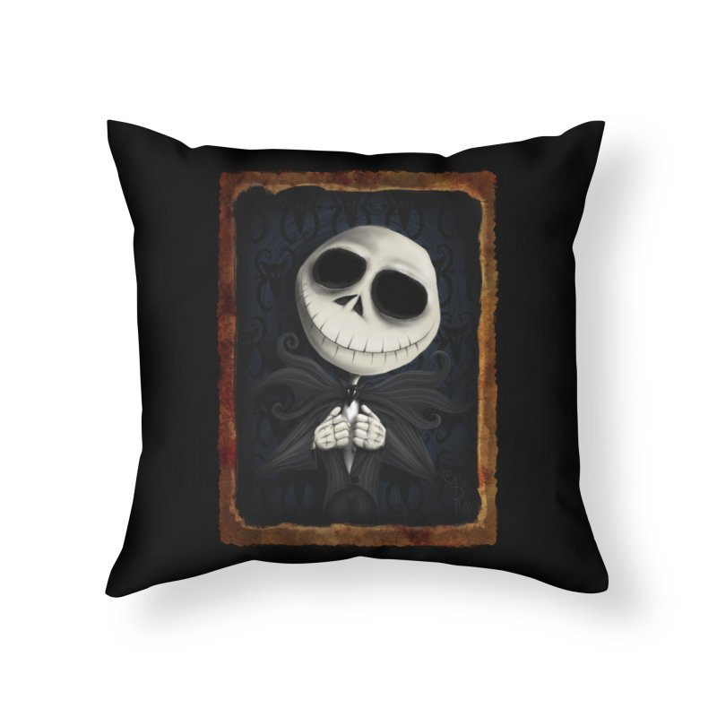 i am the pumpkin king! Home Throw Pillow by the twisted world of godriguezart