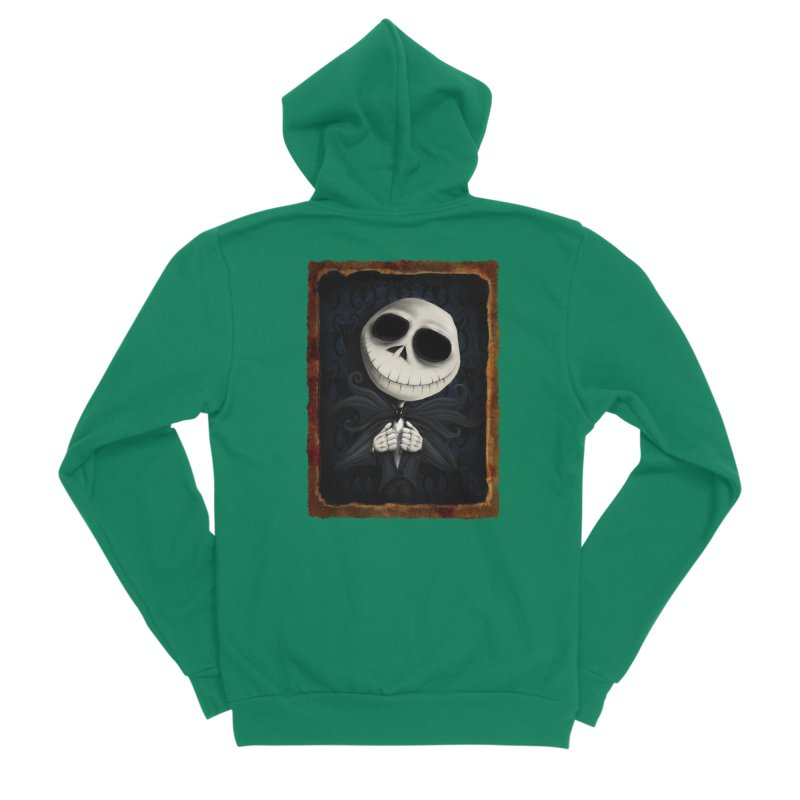 i am the pumpkin king! Men's Sponge Fleece Zip-Up Hoody by the twisted world of godriguezart