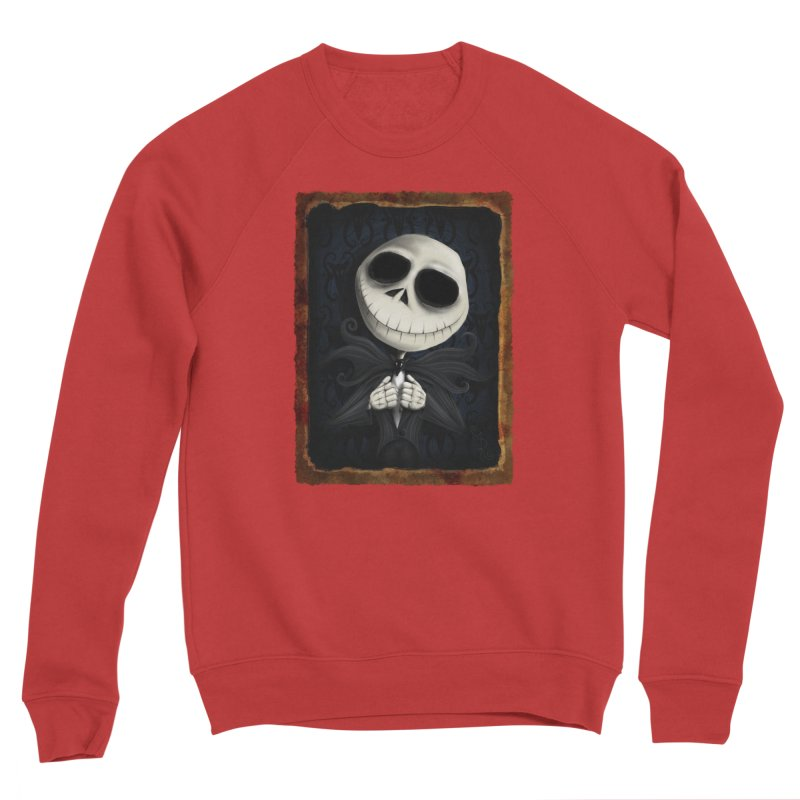 i am the pumpkin king! Men's Sponge Fleece Sweatshirt by the twisted world of godriguezart