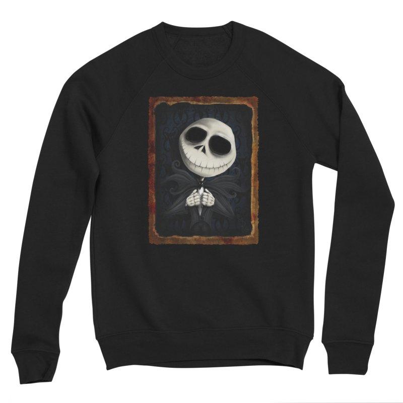 i am the pumpkin king! Men's Sponge Fleece Sweatshirt by the twisted world of godriguezart