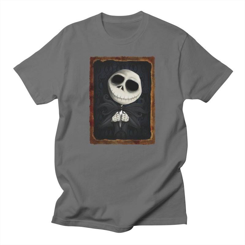 i am the pumpkin king! Men's T-Shirt by the twisted world of godriguezart