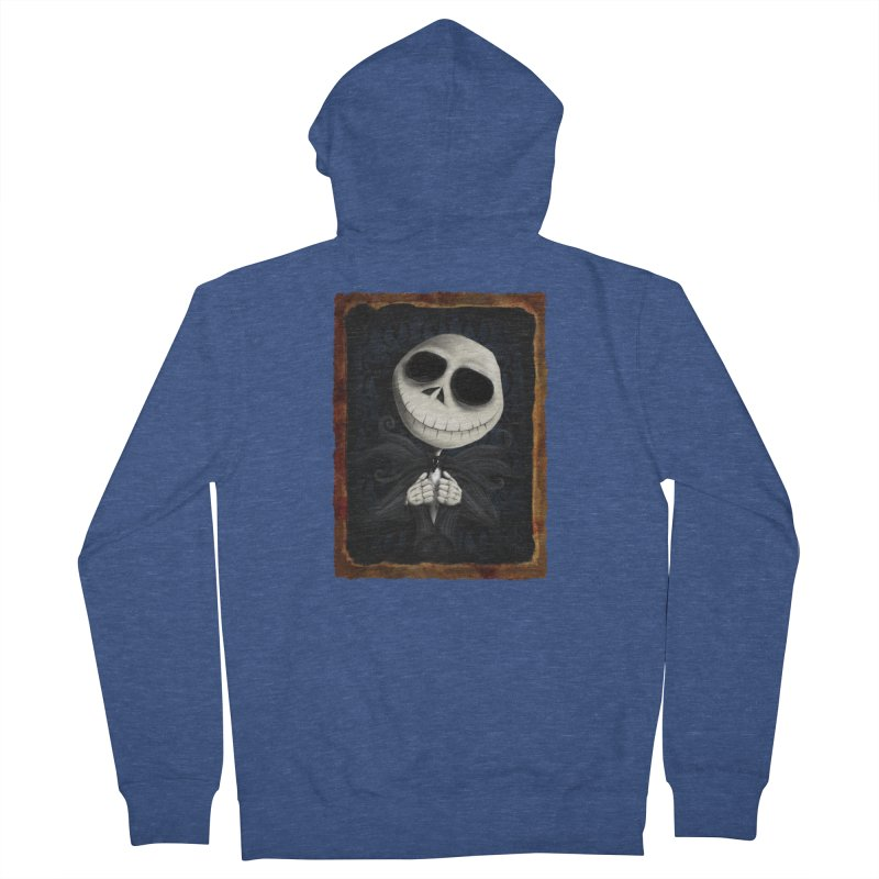 i am the pumpkin king! Men's French Terry Zip-Up Hoody by the twisted world of godriguezart