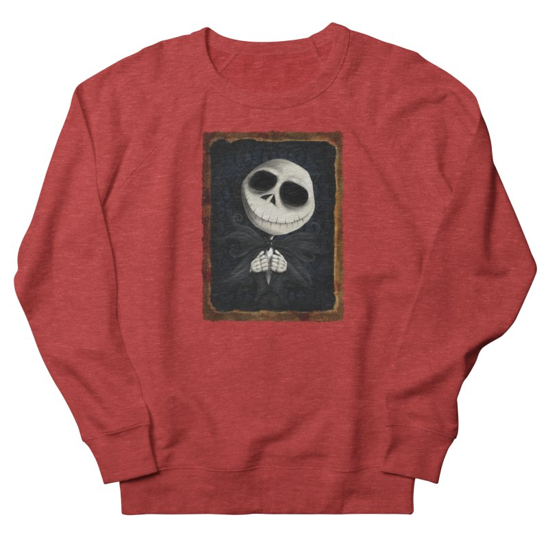 i am the pumpkin king! Women's French Terry Sweatshirt by the twisted world of godriguezart