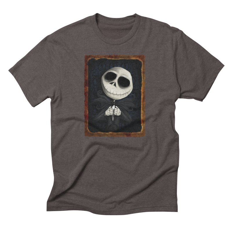 i am the pumpkin king! Men's Triblend T-Shirt by the twisted world of godriguezart