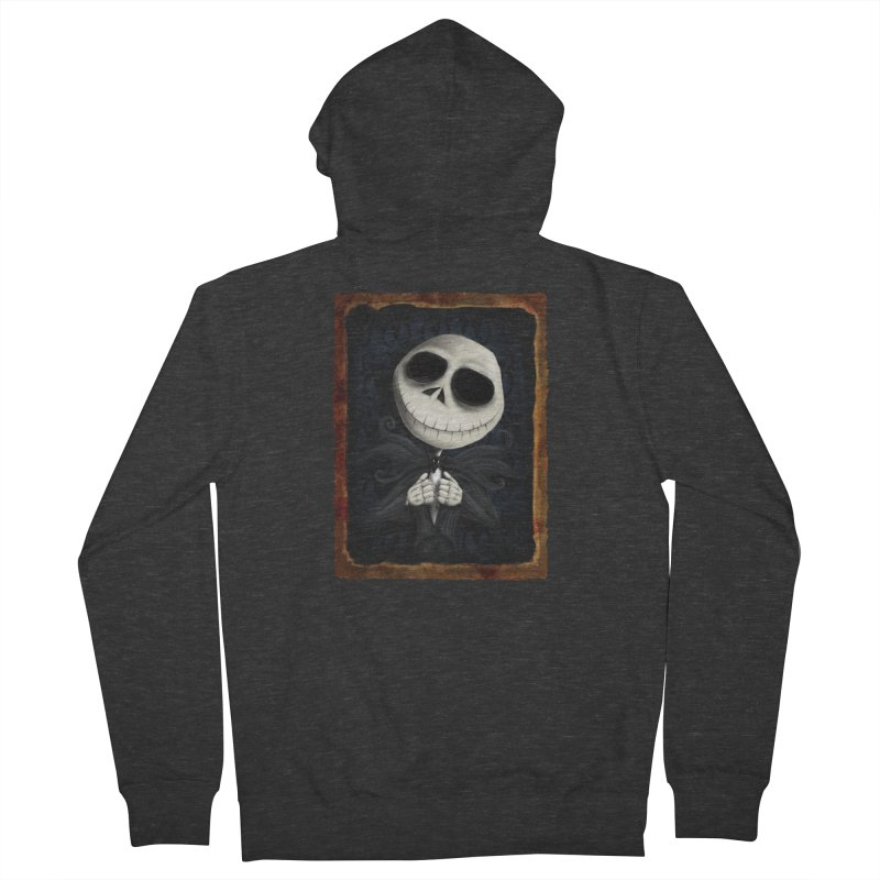i am the pumpkin king! Women's French Terry Zip-Up Hoody by the twisted world of godriguezart