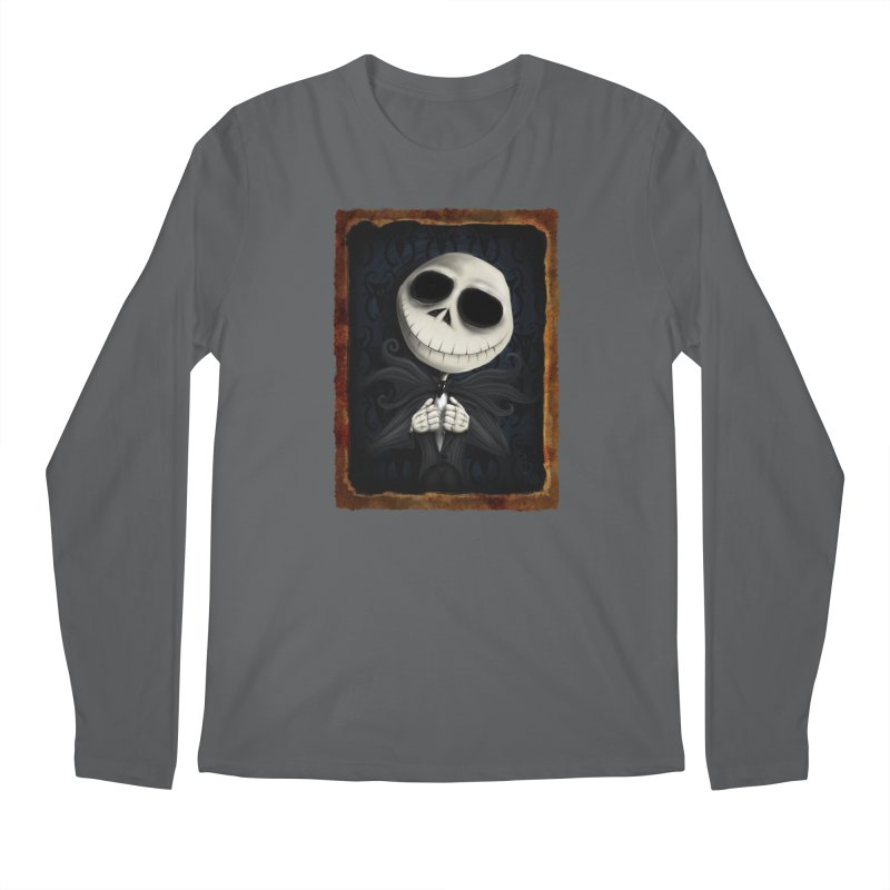 i am the pumpkin king! Men's Longsleeve T-Shirt by the twisted world of godriguezart