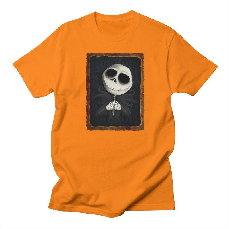i am the pumpkin king! Men's Regular T-Shirt by the twisted world of godriguezart