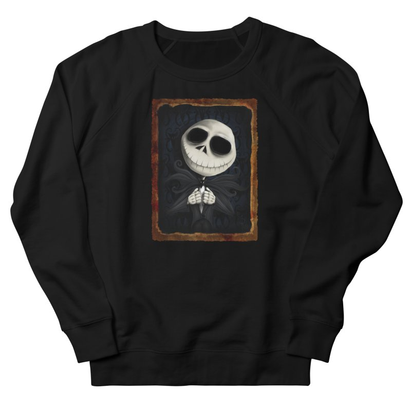 i am the pumpkin king! Men's French Terry Sweatshirt by the twisted world of godriguezart