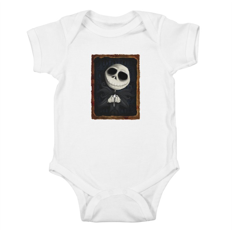i am the pumpkin king! Kids Baby Bodysuit by the twisted world of godriguezart
