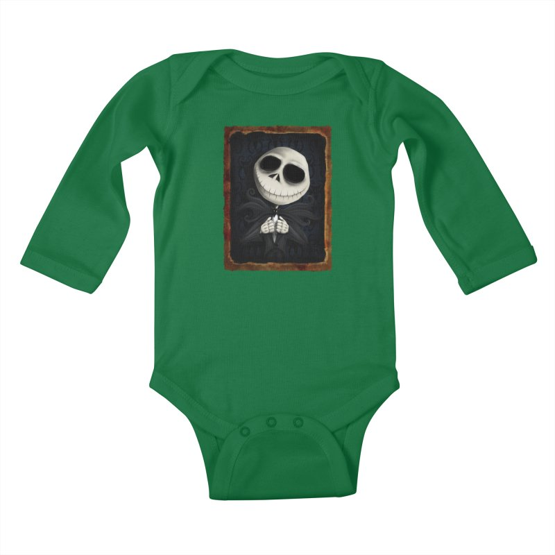 i am the pumpkin king! Kids Baby Longsleeve Bodysuit by the twisted world of godriguezart