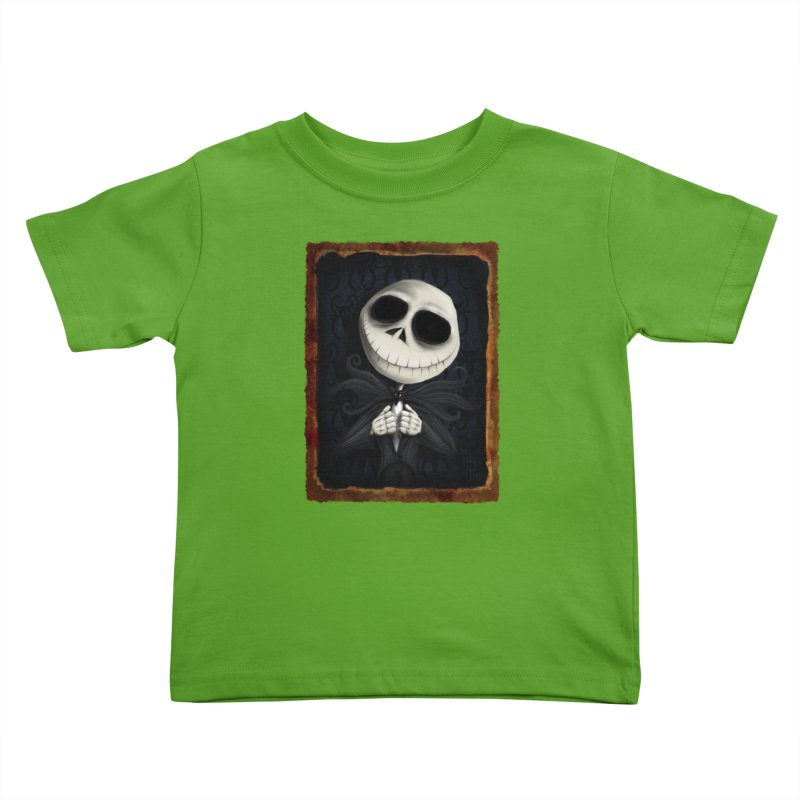 i am the pumpkin king! Kids Toddler T-Shirt by the twisted world of godriguezart