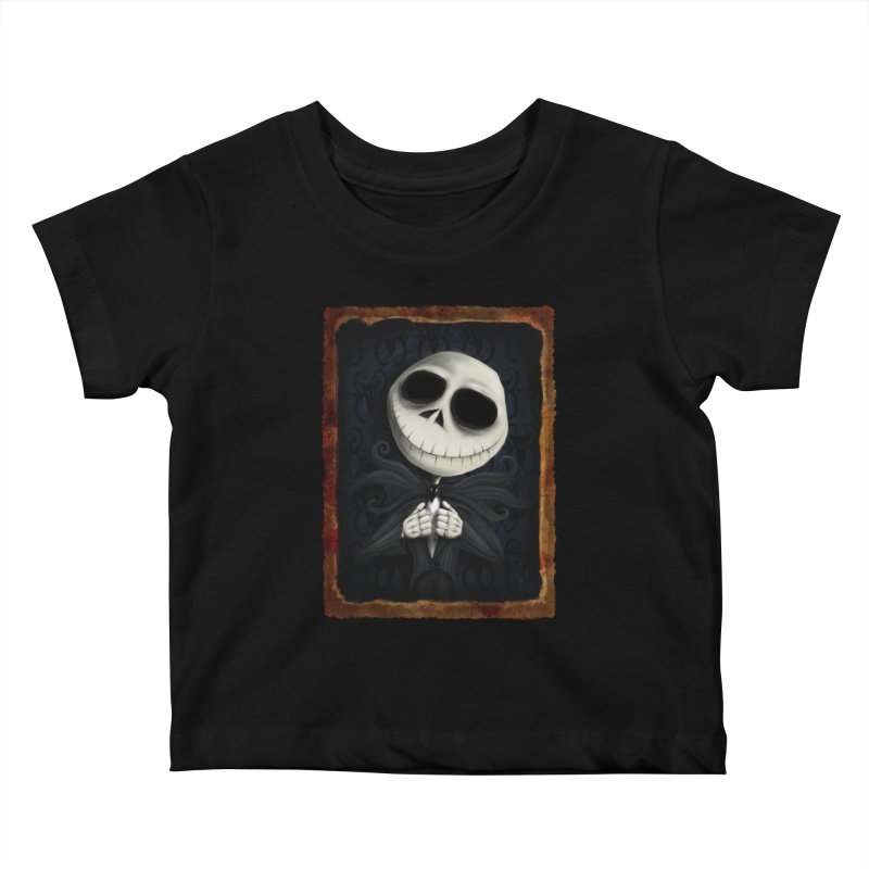 i am the pumpkin king! Kids Baby T-Shirt by the twisted world of godriguezart
