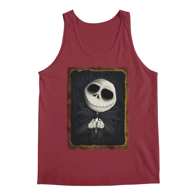 i am the pumpkin king! Men's Tank by the twisted world of godriguezart