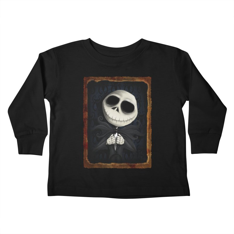 i am the pumpkin king! Kids Toddler Longsleeve T-Shirt by the twisted world of godriguezart