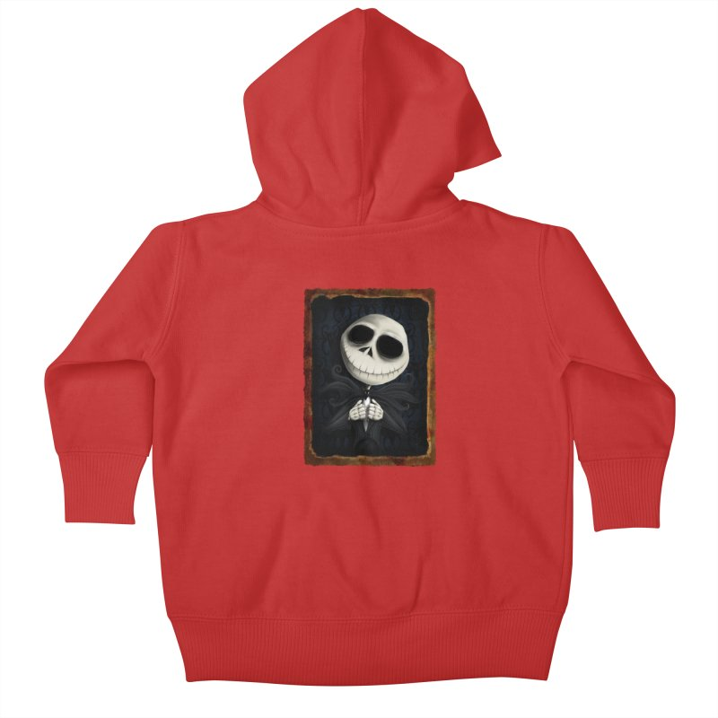 i am the pumpkin king! Kids Baby Zip-Up Hoody by the twisted world of godriguezart