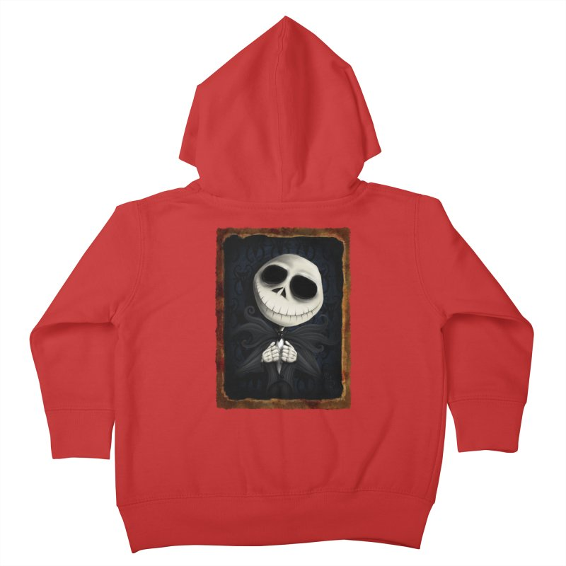 i am the pumpkin king! Kids Toddler Zip-Up Hoody by the twisted world of godriguezart