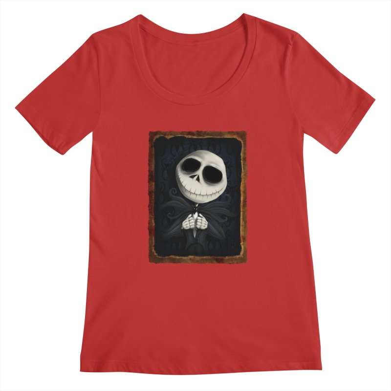 i am the pumpkin king! Women's Regular Scoop Neck by the twisted world of godriguezart