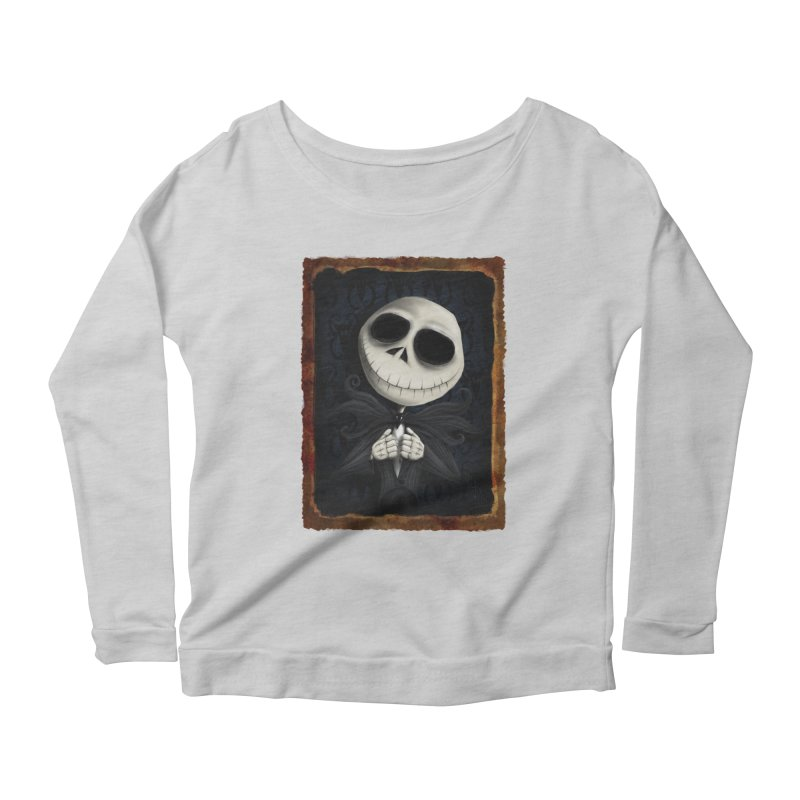 i am the pumpkin king! Women's Scoop Neck Longsleeve T-Shirt by the twisted world of godriguezart