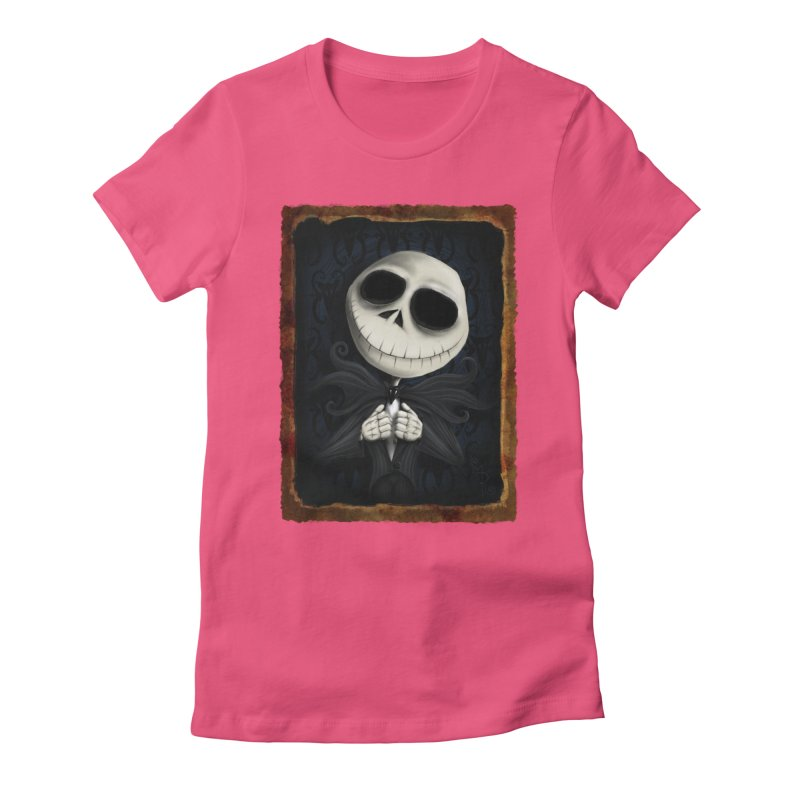 i am the pumpkin king! Women's Fitted T-Shirt by the twisted world of godriguezart