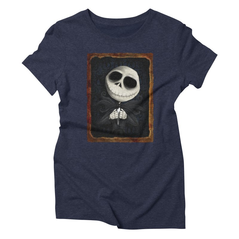 i am the pumpkin king! Women's Triblend T-Shirt by the twisted world of godriguezart