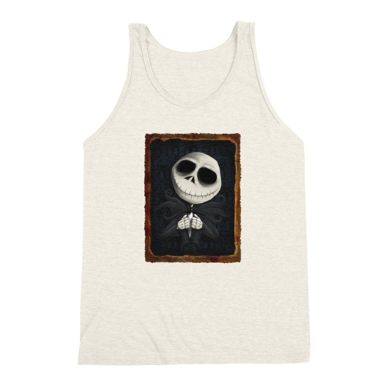i am the pumpkin king! Men's Triblend Tank by the twisted world of godriguezart