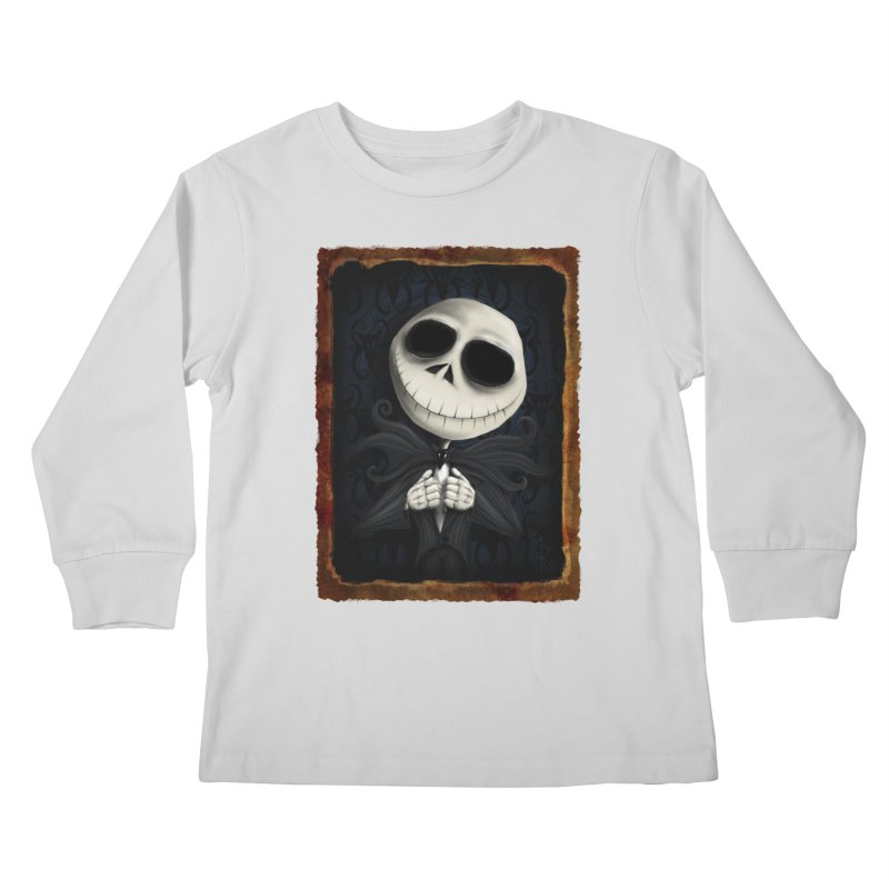 i am the pumpkin king! Kids Longsleeve T-Shirt by the twisted world of godriguezart