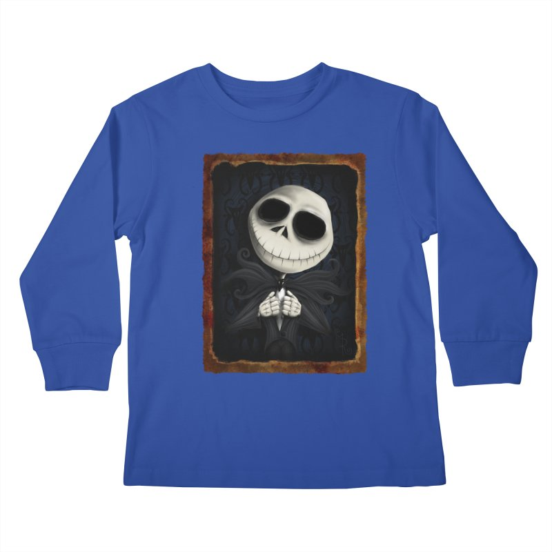 i am the pumpkin king! Kids Longsleeve T-Shirt by the twisted world of godriguezart