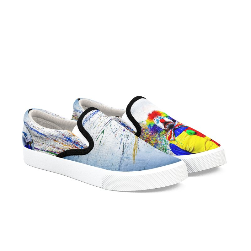 tears of a clown Women's Slip-On Shoes by the twisted world of godriguezart