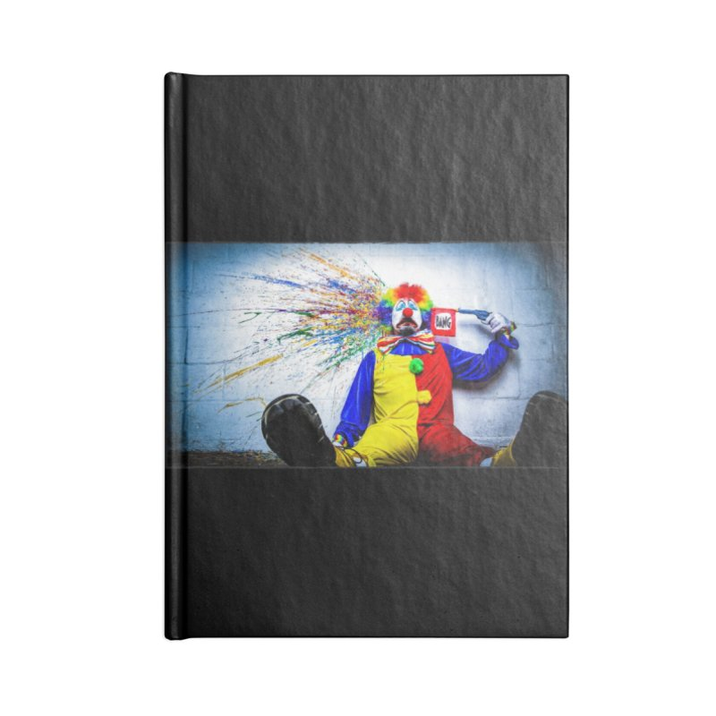 tears of a clown Accessories Notebook by the twisted world of godriguezart