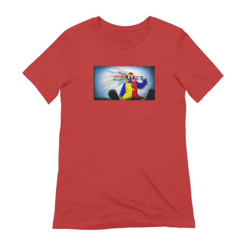 tears of a clown Women's Extra Soft T-Shirt by the twisted world of godriguezart
