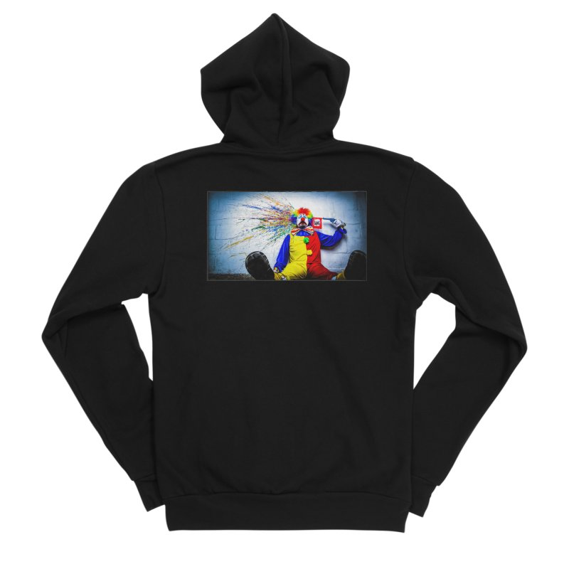 tears of a clown Women's Sponge Fleece Zip-Up Hoody by the twisted world of godriguezart