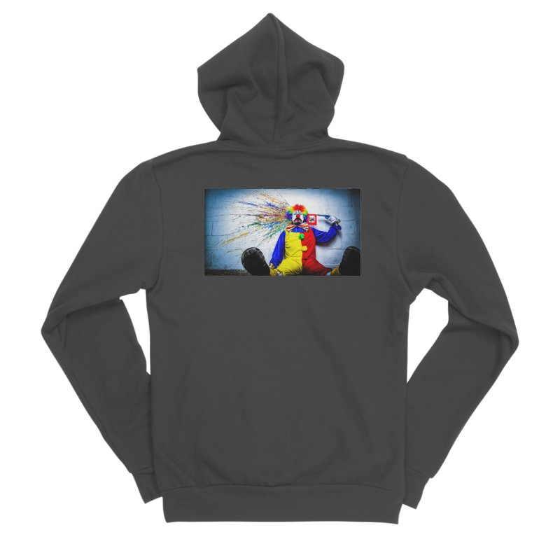 tears of a clown Men's Sponge Fleece Zip-Up Hoody by the twisted world of godriguezart