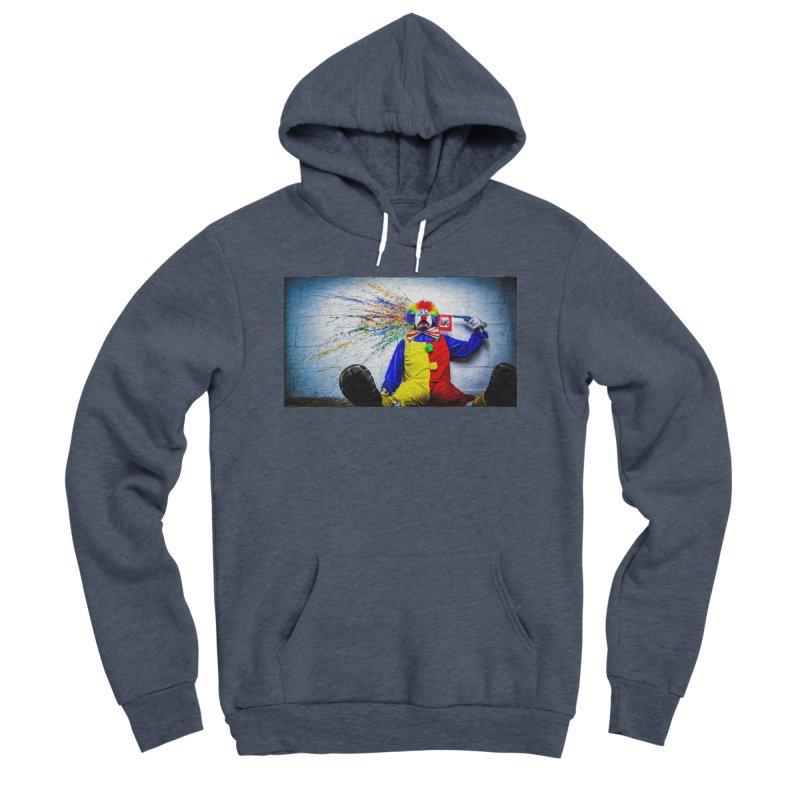tears of a clown Men's Sponge Fleece Pullover Hoody by the twisted world of godriguezart
