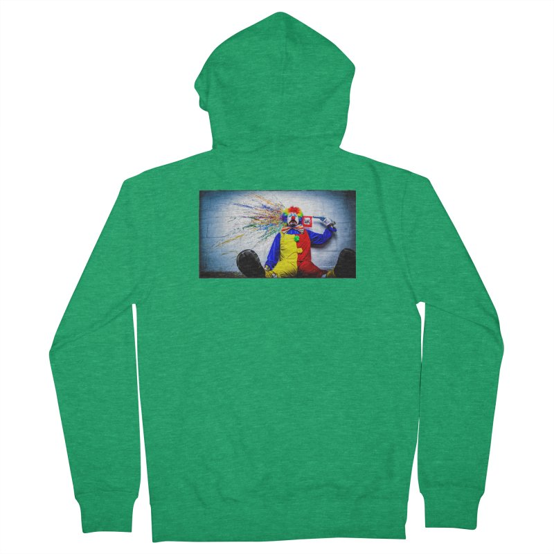 tears of a clown Men's Zip-Up Hoody by the twisted world of godriguezart