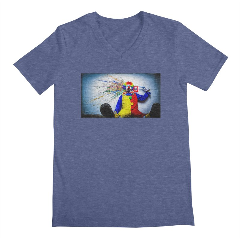 tears of a clown Men's V-Neck by the twisted world of godriguezart